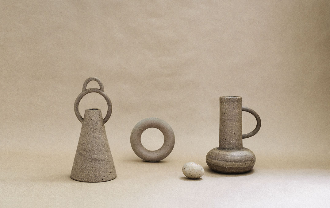 SYMBOL VASES & STONEWARE BANGLE, 2017