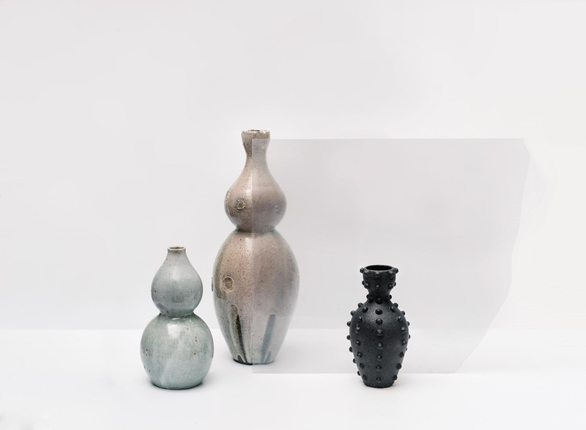 Gourd Vessel, Woodfired Reef Vase, Studded Vase, 2017