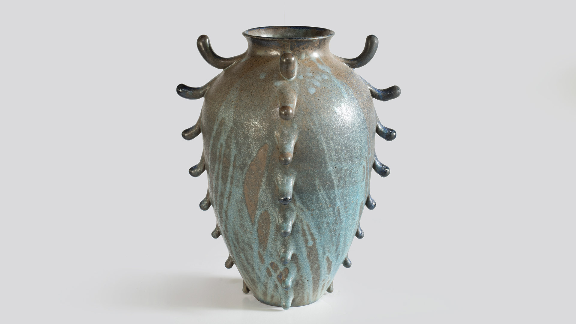 nicolette johnson ceramics large frilled woodfired urn 2