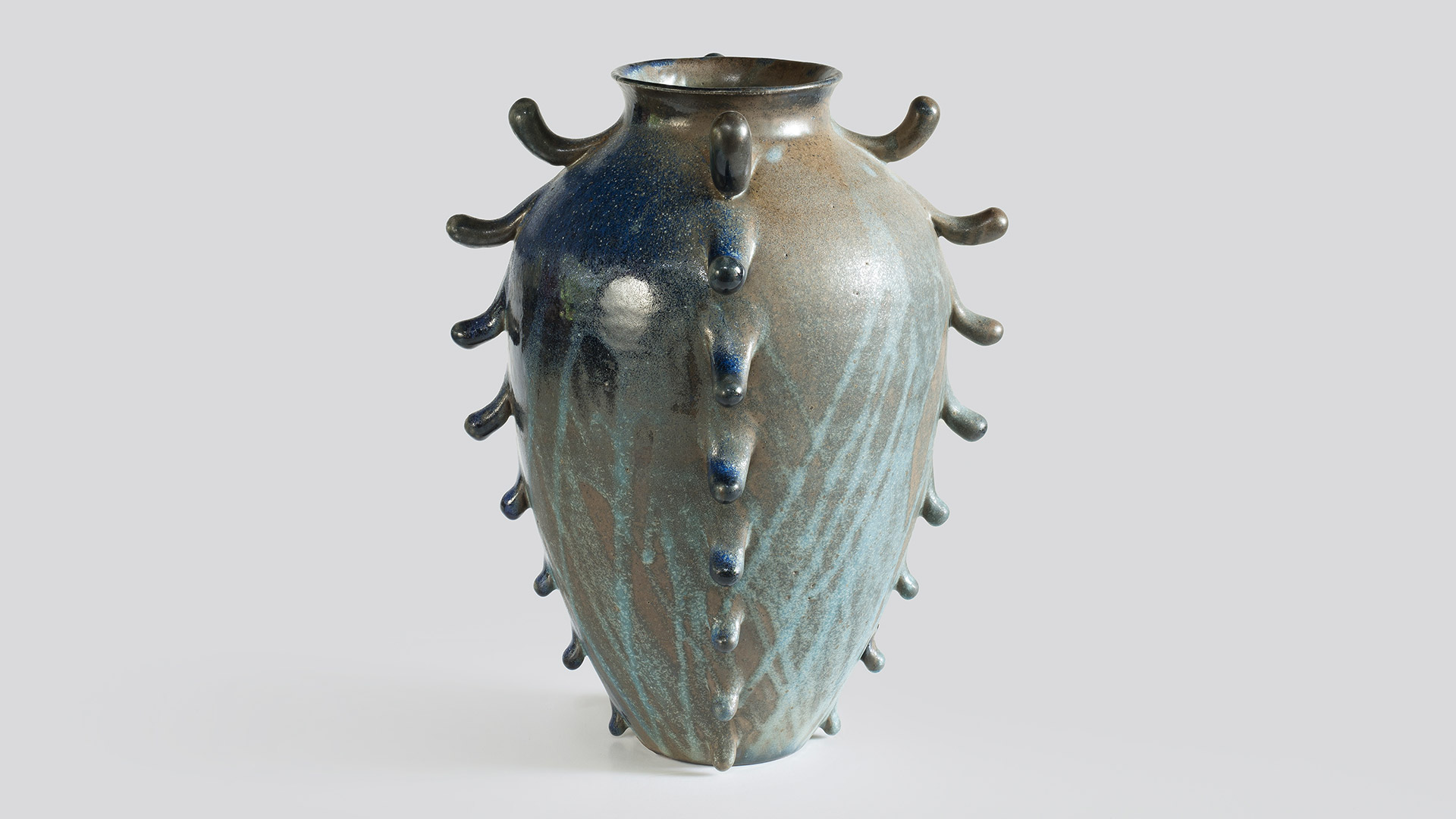 nicolette johnson ceramics large frilled woodfired urn 3