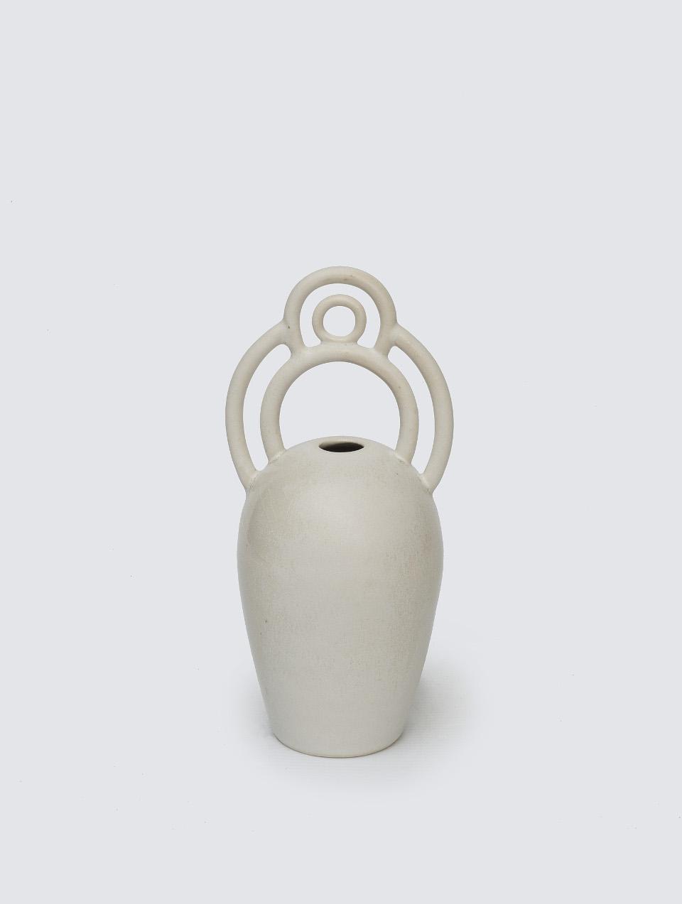 Intricate Symbol Vase (White), 2017
